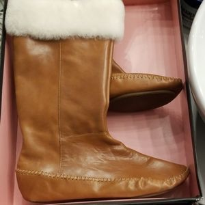 Dolce vita leather boots with fur size 10